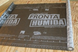 Fronta Humida used by Eden Insulation as a weatherproof, breathable exterior shell for Passivhaus and other energy-efficient buildings,