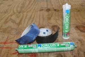 Orcon F adhesive and Tescon tapes used by Eden Insulation to seal airtight panels for Passivhaus and other energy-efficient buildings