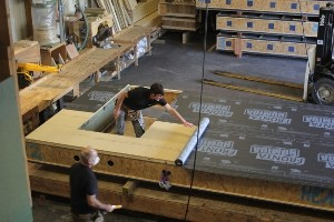 Eden Insulation manufacturing airtight timber panel frames for Passivhaus