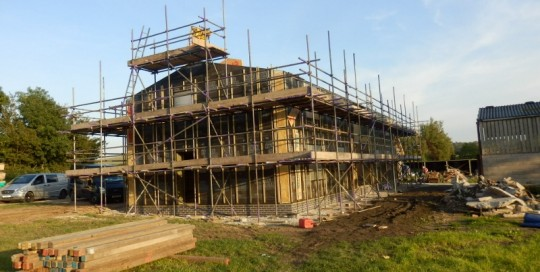 Eden Insulation constructing a Passivhaus standard frame at Oakdene Farm Staffs