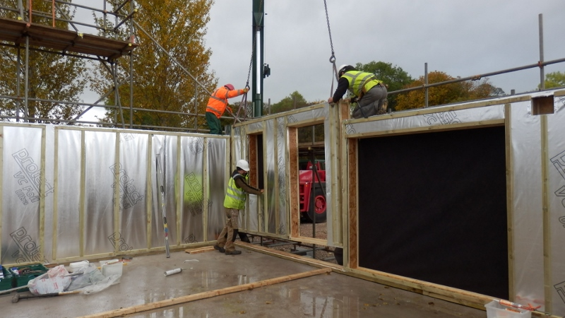 Constructing the airtight frame at 15 Stoneworks Garth by Eden Insulation
