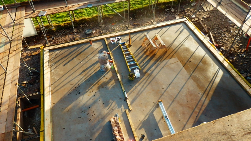 Groundworks at 16 Stoneworks Garth ready for Eden Insulation's airtight, insulated timber frame
