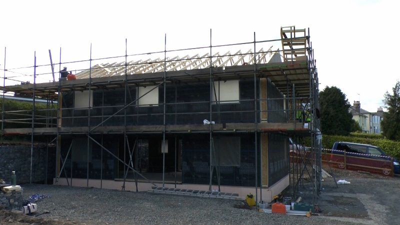 Kendal Passivhaus frame erected by Eden Insulation