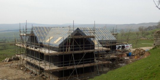 Low energy home in Barras, Cumbria by Eden Insulation, with roof sealed