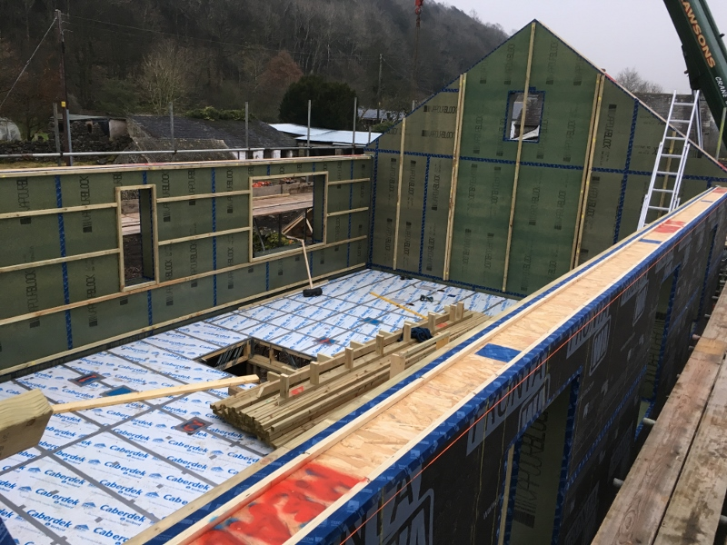 Constructing a low-energy farmhouse in Witherslack, Lake District National Park, by Eden Insulation