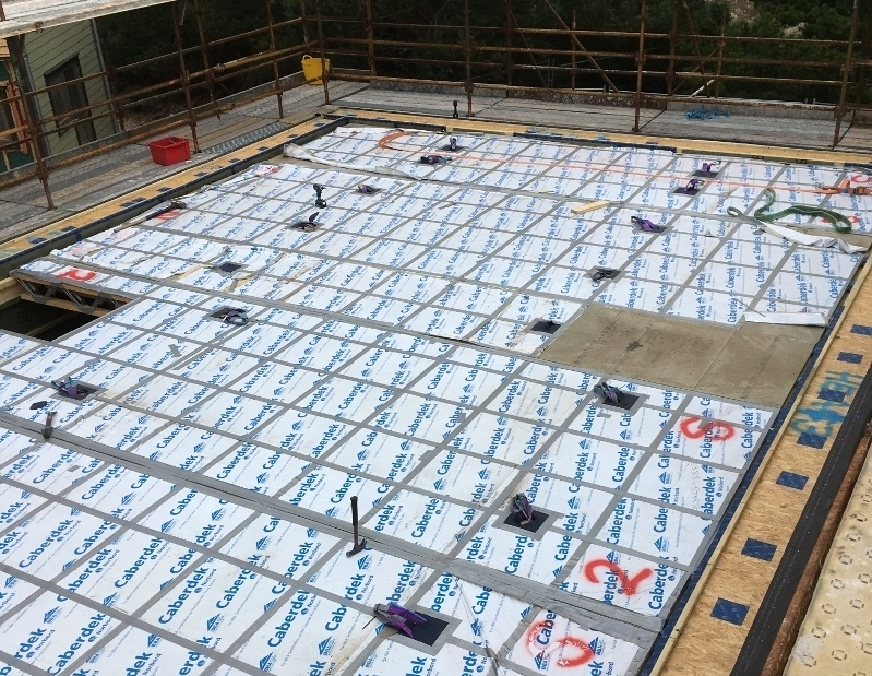 Construction of a Passivhaus standard home in Findhorn by Eden Insulation