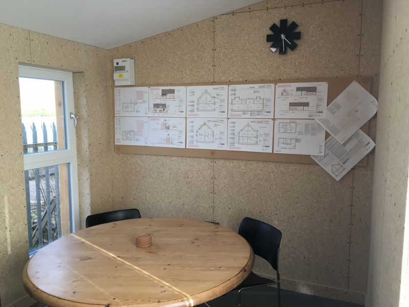 Eden Insulation office pod interior complete