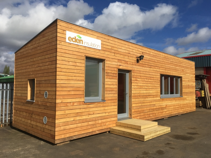 Eden Insulation office pod exterior complete
