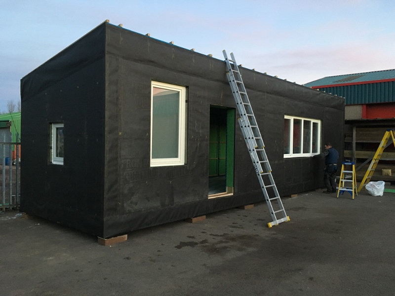 Eden Insulation office pod frame complete