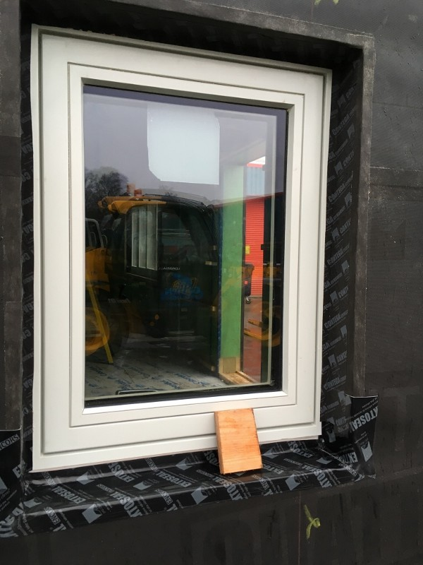Eden Insulation office pod triple-glazed window