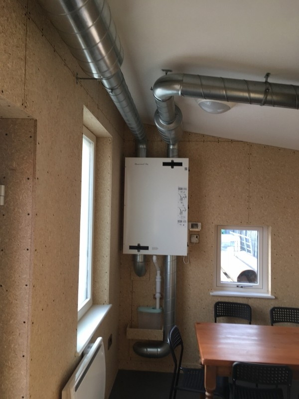 Eden Insulation office pod MVHR unit