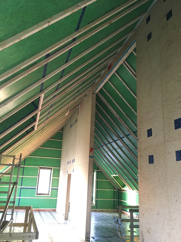 Spine wall into roof in Durris Aberdeenshire