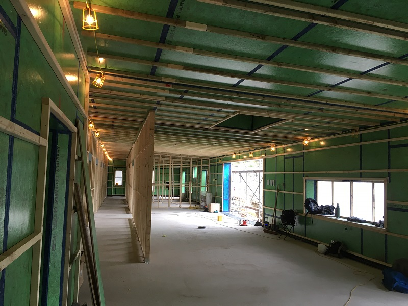 Internal view of lounge and hallway area in Cabercoorie, Moffat